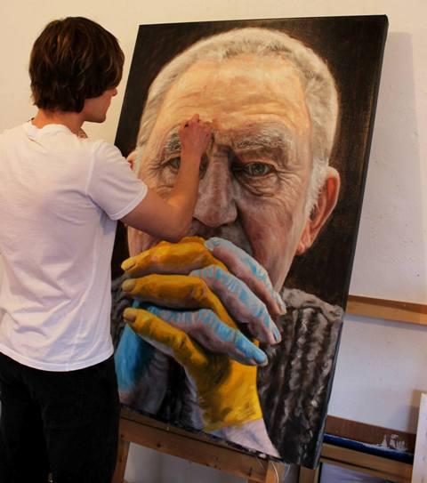 photo painting artist